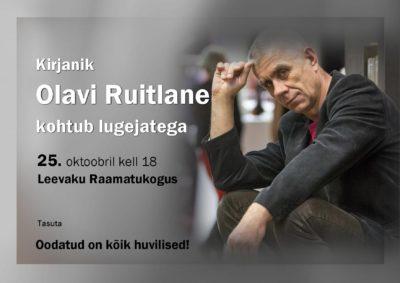 Kirjanik Olavi Ruitlane kohtub lugejatega @ Leevaku Raamatukogu | Leevaku | Põlva maakond | Eesti