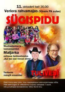 Sügispidu @ Veriora Rahvamaja | Viluste | Põlva maakond | Eesti