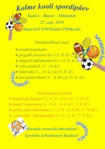 Kolme kooli spordipäev @ Kauksi Põhikool | Eesti