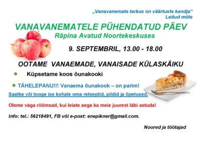 Vanavanematele pühendatud päev @ Räpina Avatud Noortekeskus | Räpina | Põlva maakond | Eesti