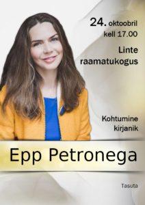 Kohtumine kirjanik Epp Petronega @ Linte raamatukogu | Linte | Põlva maakond | Eesti