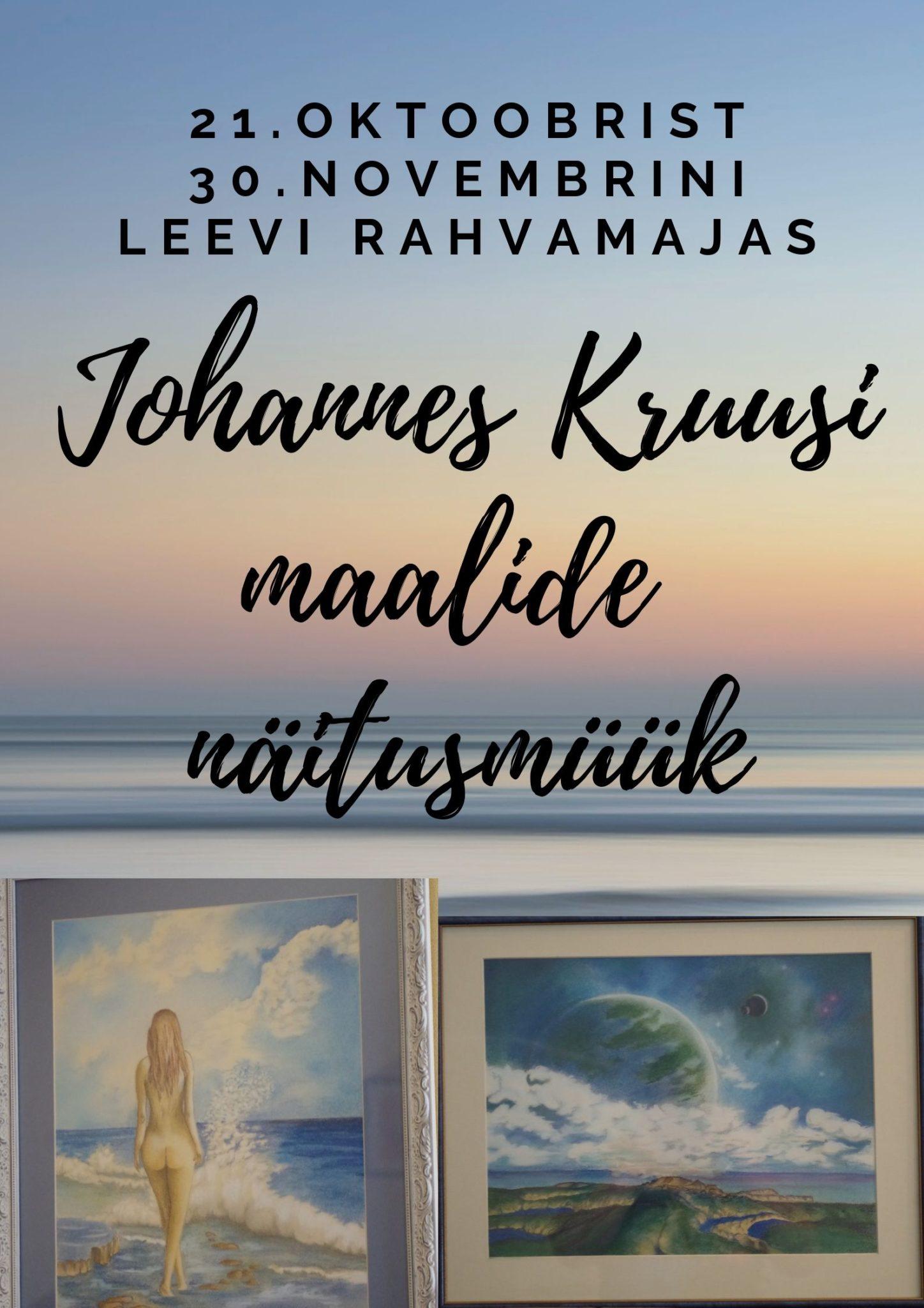 Photo of Johannes Kruusi maalide näitusmüük