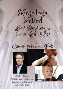 Hingedeaja kontsert @ Leevi Rahvamaja | Leevi | Põlva maakond | Eesti