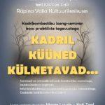 Kadrikombestiku koolitus @ Ruusa kultuurimaja, Räpina Valla Kultuurikeskus