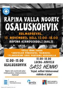 Räpina valla noorte osaluskohvik @ Räpina Aianduskooli saal | Räpina | Põlva maakond | Eesti