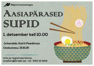 Toidukoolitus Aasiapärased supid @ Räpina loomemaja | Räpina | Põlva maakond | Eesti