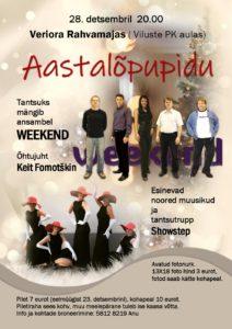 Aastalõpupidu Vilustes @ Veriora Rahvamaja ( Viluste PK aula) | Põlva maakond | Eesti