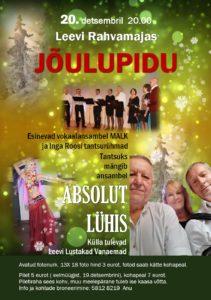 Jõulupidu Leevil @ Leevi Rahvamaja | Leevi | Põlva maakond | Eesti