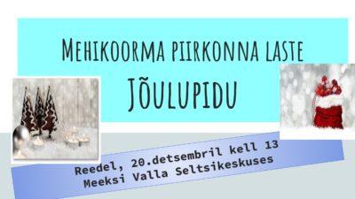 Jõulupidu @ Meeksi valla Seltsikeskus | Meeksi | Tartu maakond | Eesti