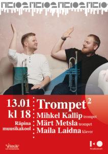 Mihkel Kallip ja Märt Metsla-trompetid ja Maila Laidna (klaver) @ Räpina Muusikakool | Räpina | Põlva maakond | Eesti