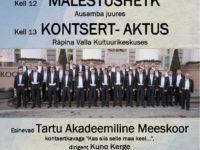Tartu Rahu 100 @ Räpina Valla Kultuurikeskus | Räpina | Põlva maakond | Eesti