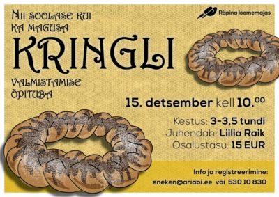 Kringli valmistamise õpituba @ Räpina loomemaja | Räpina | Põlva maakond | Eesti