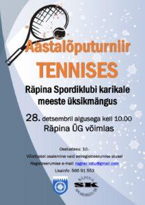 Aastalõputurniir tennises @ Räpina Ühisgümnaasium