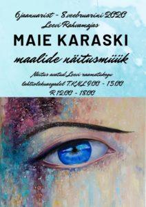 Maie Karaski maalide näitusmüük @ Leevi Rahvamaja | Leevi | Põlva maakond | Eesti