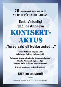 Eesti Vabariigi 102. aastapäeva kontsert-aktus. Tunnustamine @ Viluste Põhikool | Viluste | Põlva maakond | Eesti