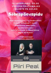 Sõbrapäevapidu @ Veriora Rahvamaja (Viluste PK aula) | Viluste | Põlva maakond | Eesti