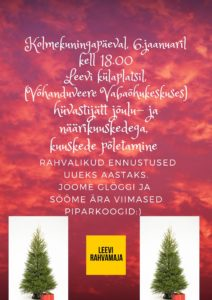 Kolmekuningapäev, hüvastijätt jõulukuuskedega @ Võhanduveere Vabaõhukeskus | Leevi | Põlva maakond | Eesti