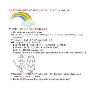 Lasteaia sünnipäevanädal- mängupäev @ Räpina Lasteaed Vikerkaar | Räpina | Põlva maakond | Eesti