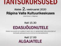 Reno Olle tantsukursus algajatele ja edasijõudnutele @ Räpina Valla Kultuurikeskus | Räpina | Põlva maakond | Eesti