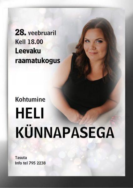 Kohtumine kirjanikuga. Heli Künnapas. @ Leevaku raamatukogu | Leevaku | Põlva maakond | Eesti