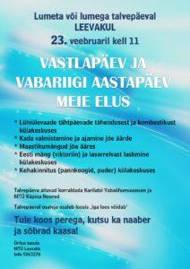 Lumega või lumeta talvepäev Leevakul @ Leevaku külaplatsil/külakeskuses | Leevaku | Põlva maakond | Eesti