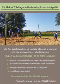 Heino Tolstingu XIII mälestusvõistlused võrkpallis @ Naha külaplats | Naha | Põlva maakond | Eesti