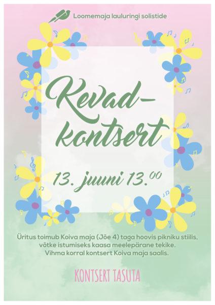 Loomemaja lauluringi solistide kevadkontsert @ Koiva maja tagahoovis | Räpina | Põlva maakond | Eesti