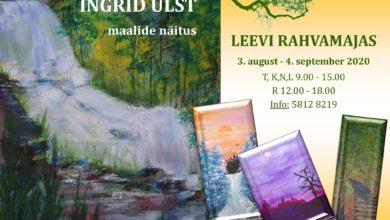 Photo of Ingrid Ulsti maalide näitus Leevi rahvamajas