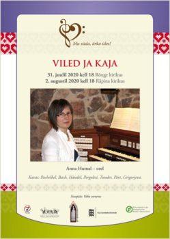 Kontsert: Viled ja kaja. Anna Humal orelil @ Räpina Miikaeli kirik | Räpina | Põlva maakond | Eesti