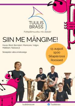 Vaskpillikvinteti Tuulisbrass kontsert @ Sillapää lossi rosaariumis | Sillapää | Põlva maakond | Eesti