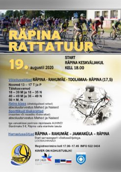 Räpina rattatuur 2020 @ Räpina linna ja valla teedel | Räpina | Põlva maakond | Eesti