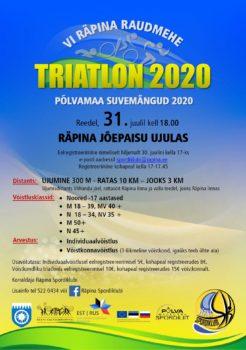 VI Räpina Raudmehe triatlon @ Räpina | Räpina | Põlva maakond | Eesti