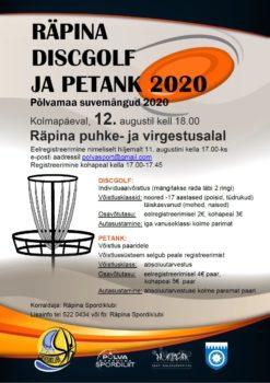 Räpina discgolf ja petank 2020 @ Räpina | Põlva maakond | Eesti