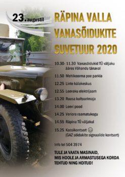 Räpina valla vanasõidukite suvetuur 2020 @ Start Tuletõrje väljakult | Räpina | Põlva maakond | Eesti
