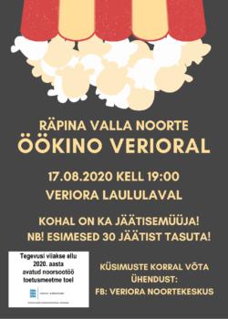 Räpina valla noorte öökino Verioral @ Veriora laululava | Veriora | Põlva maakond | Eesti