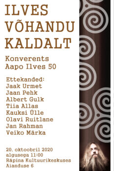 Aapo Ilvese juubelikonverents @ Räpina Valla Kultuurikeskus | Räpina | Põlva maakond | Eesti