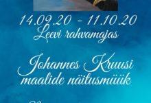 Photo of Johannes Kruusi maalide näitusmüük Leevi rahvamajas