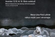 Photo of Marja-Liisa Platsi piltide näitusmüük Leevi rahvamajas