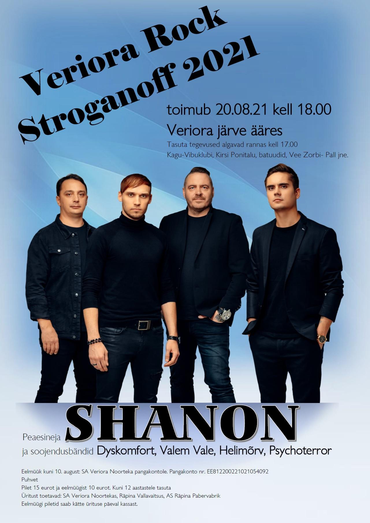 Veriora Rock Stroganoff @ Veriora vabaõhulaval | Veriora | Põlva maakond | Eesti