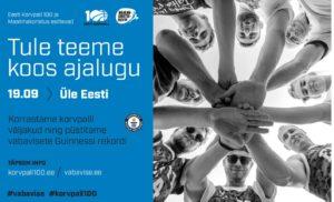 Guinnessi rekordi püstitamine korvpalli vabavisetes @ Veriora paisjärve ääres | Veriora | Põlva maakond | Eesti