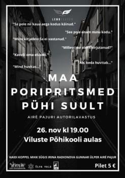 Maa poripritsmed pühi suult @ Viluste PK aula/Veriora rahvamaja | Viluste | Põlva maakond | Eesti