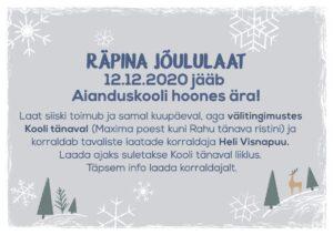 Räpina jõululaat Kooli tänaval @ Räpina | Põlva maakond | Eesti