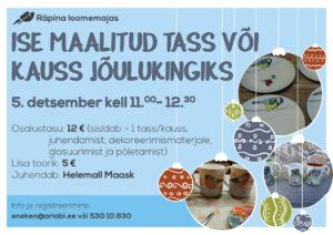 Jõulukingituse maalimise töötuba @ Räpina loomemajas | Räpina | Põlva maakond | Eesti