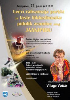 Jaanipidu Leevil @ Leevi külaplats ja laululava | Leevi | Põlva maakond | Eesti