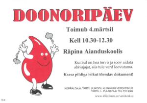 Doonoripäev Räpina Aianduskoolis @ Räpina Aianduskooli saal | Räpina | Põlva maakond | Eesti