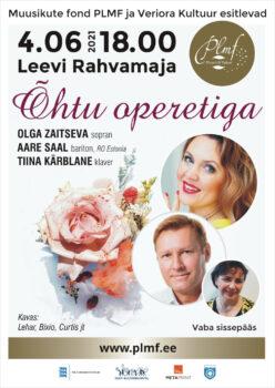 Õhtu operetiga @ Leevi rahvamaja | Leevi | Põlva maakond | Eesti