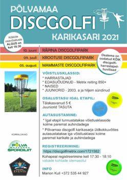 Põlvamaa discgolfi karikasari 2021: Räpina discgolfipark @ Räpina discgolfipark