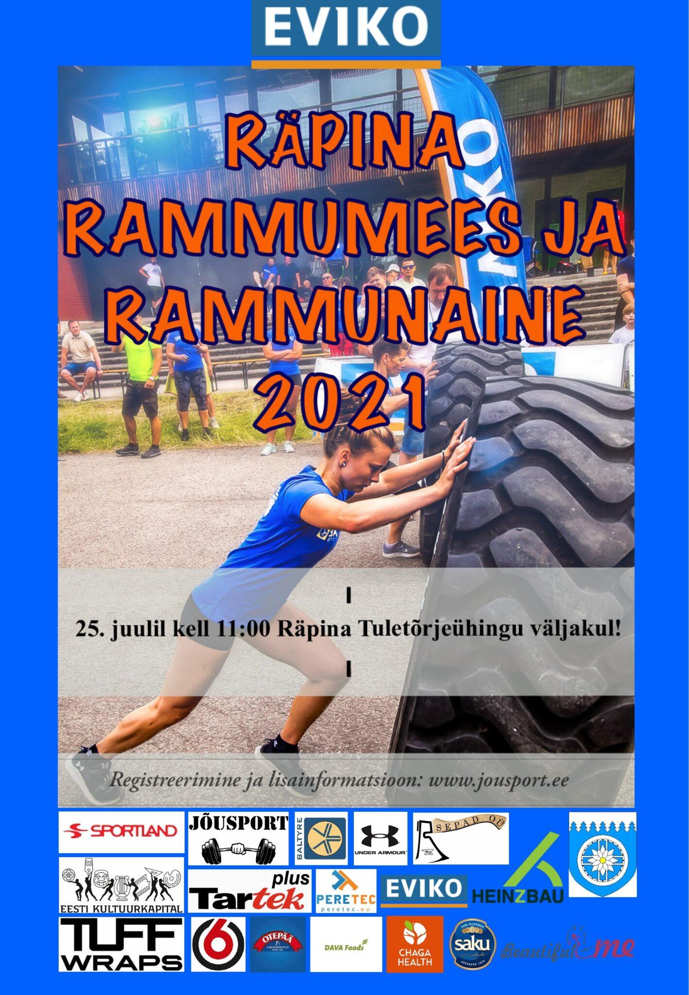Rammumees 2021  Räpina etapp @ Räpina TÜ väljak | Räpina | Põlva maakond | Eesti