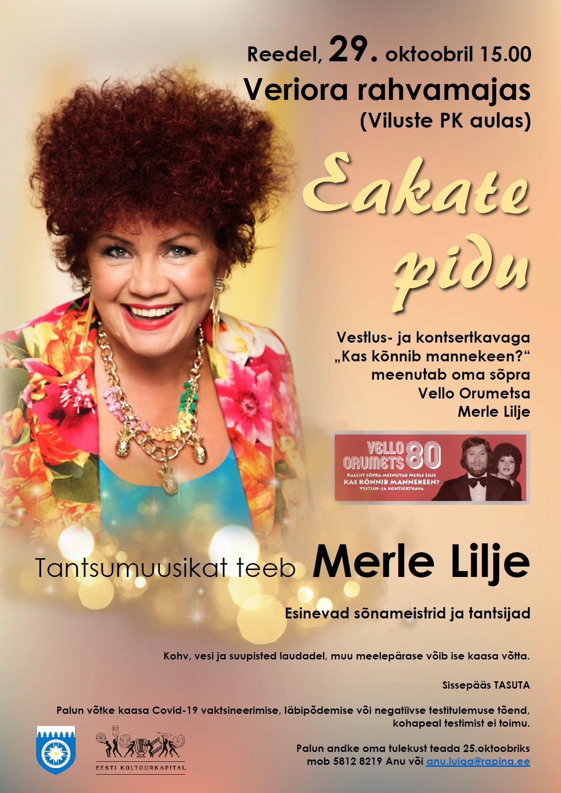 Räpina valla eakate pidu @ Viluste PK aula/Veriora rahvamaja | Viluste | Põlva maakond | Eesti