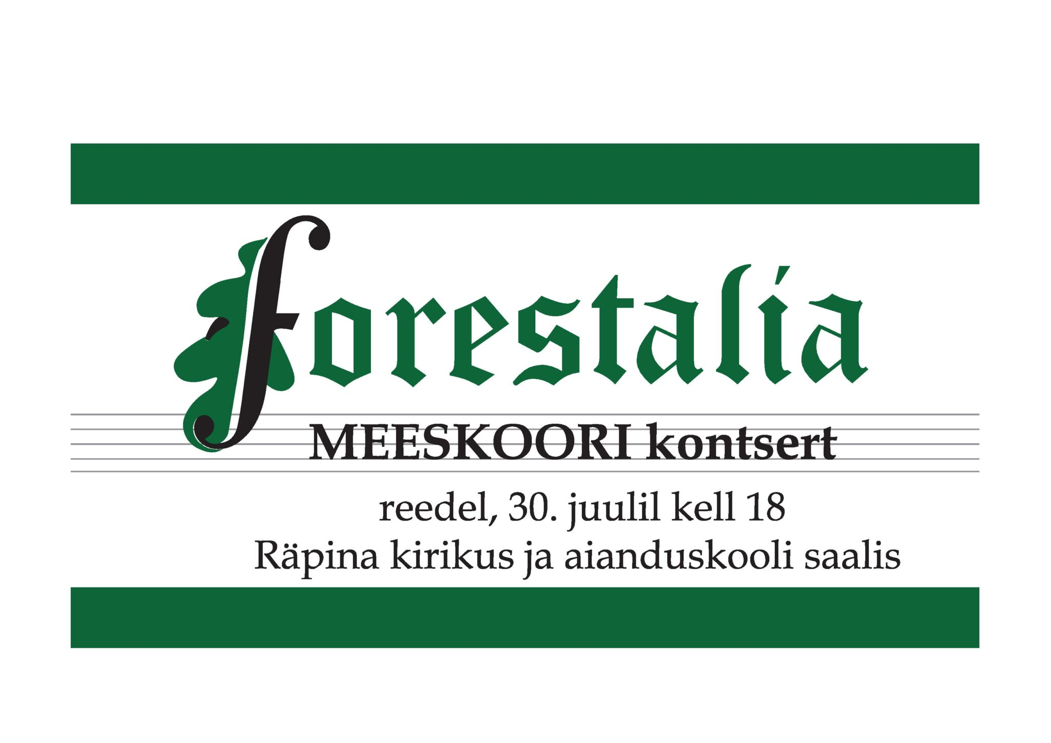 Meeskoor Forestalia kontsert I osa @ Räpina Püha Miikaeli kirik | Räpina | Põlva maakond | Eesti